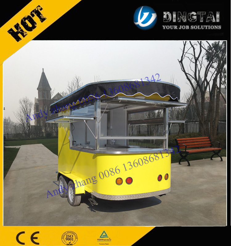 300 High quality food truck/mobile kitchen 0086 13608681342