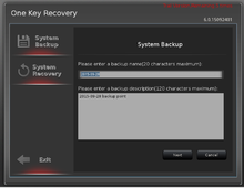 One Key Recovery software rescue computer Operating System without hard disk division