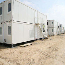 Steel frame building prefab construction site flat pack container office price 20ft 40ft