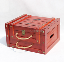 Custom wooden wine box 6 bottle packing/6 bottle carrier