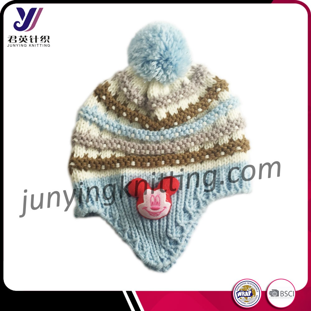 Wholesale wool felt knit beanie cover ear hats Support small orders(Accept the design draft)