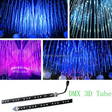 DMX led falling star light 3D vertical tube/ disco led tube light
