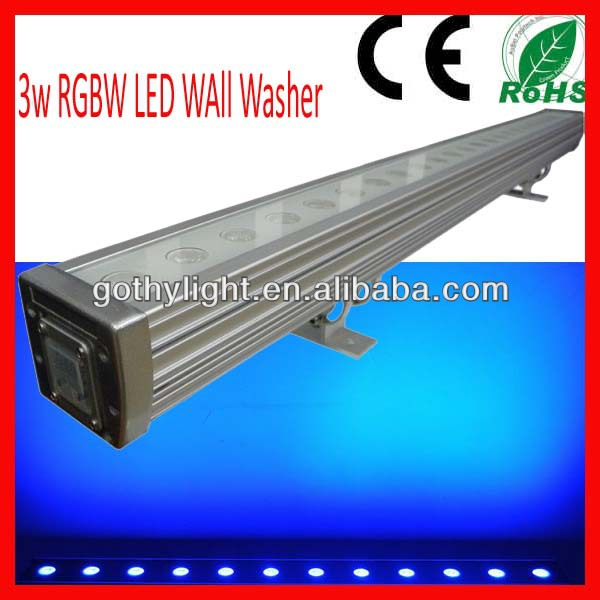 CE RoHS / 24 x 3w DMX Led Wall Washer/Led Bar 3w Stage RGBW
