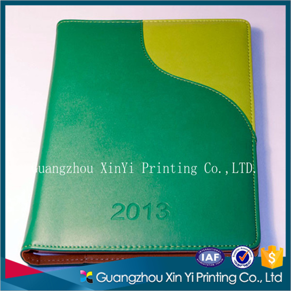 Custom a5 size perfect bound soft cover PU leather note book with elastic closure