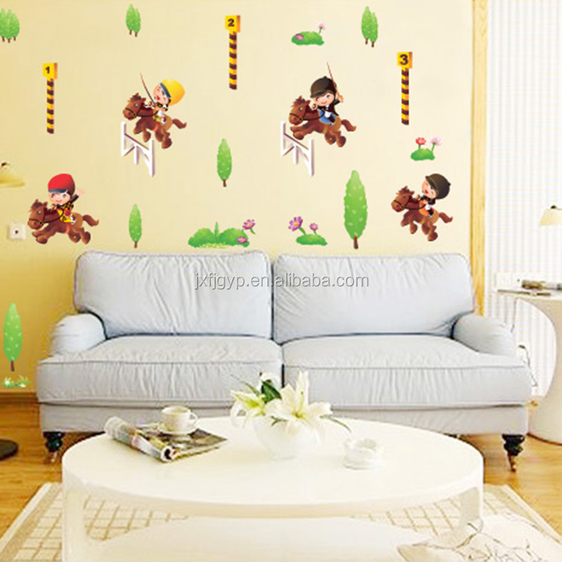 removable cartoon wall papers bedroom decor home