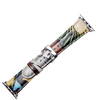 Stylish Leather Watch Band for Apple, New Colors 38mm 40mm 42mm 44mm Smart Band Watch
