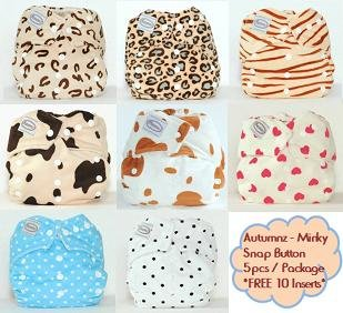 One Size Cloth Diapers - Autumnz Minky Snap Button
