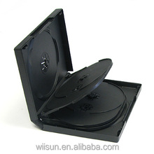 27mm multi dvd case with 3trays 8 disc Black DVD case
