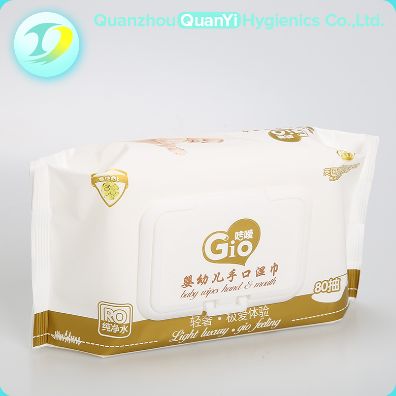 China manufacturer nonwoven tender skin wet wholesale baby wipes with cover