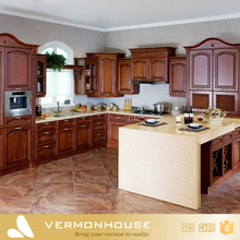 2018 Best Sale Vermonhouse Cherry Birch Pine Teak Beach Pecan Soild Wood Kitchen Cabinet