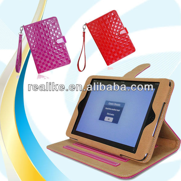 tablet case for ipad mini 2 retina,shiny with hand strap