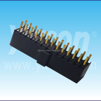 2.54mm pitch single layer dual row straight mating with box header female header