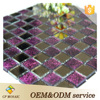 China suppliers glass mosaic wall decoration purple atpalas kitchen backboard mosaic tile