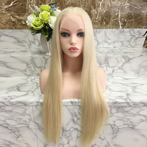 Full cuticle natural straight full lace wig long blonde human hair wig