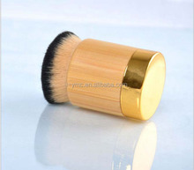 New upscale polishing Tarte style bamboo handle pier chubby foundation brush and BB Cream brush