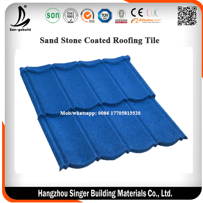 China colorful Prepainted PPGI 8 Waves Sand Stone Coated Roofing Tile /Building Material Metal Roofing Tile