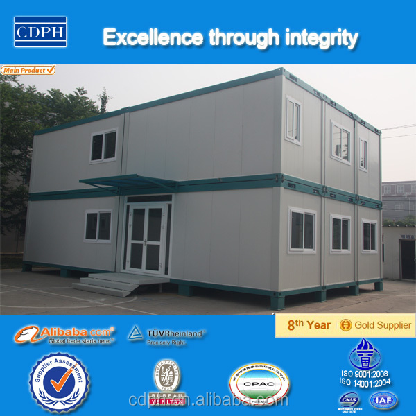Prefabricated flat pack container house