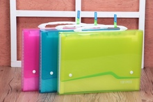 bright color a4 plastic expanding file case with handle