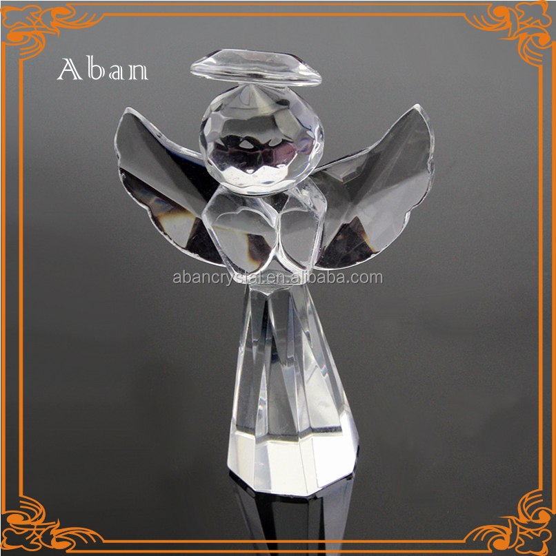 Popular crystal angel figurines for baby baptism souvenir