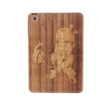 Bulk Wholesale Cute Japan Case Japanese Shell Wood Carving Bamboo Back Cover Wooden Cases For iPad mini / Retina 2