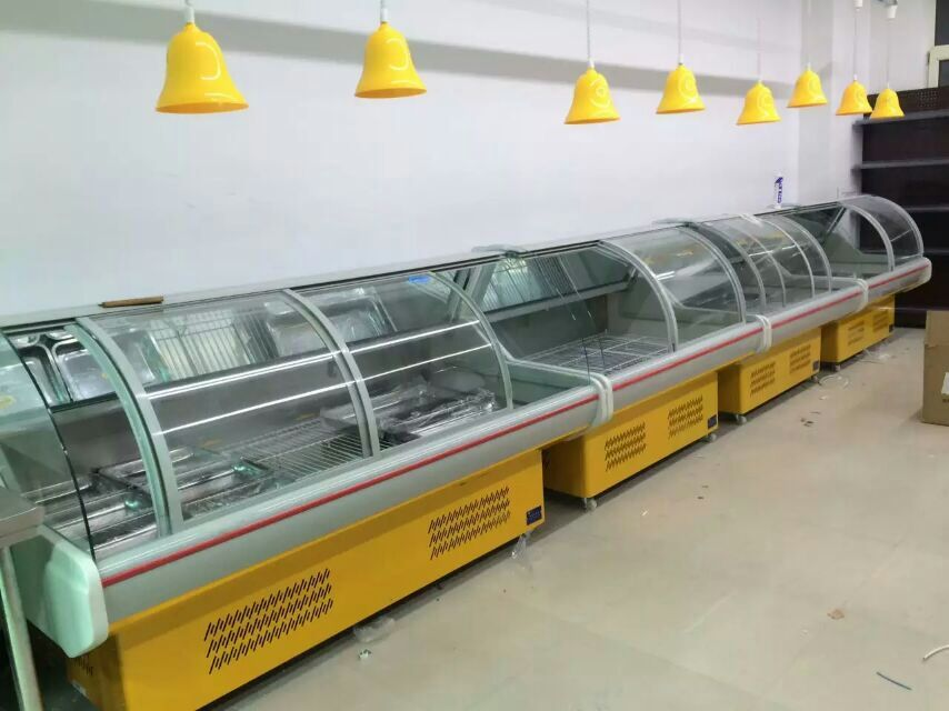 Wholesales Display Fish and Meat Refrigerator , Supermarket Showcase Refrigerator