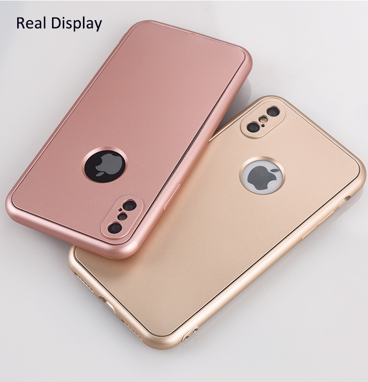 DFIFAN For iphone x 360 Case Ultra Slim TPU Full Protective Mobile Phone Case for iphone X
