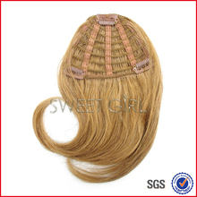 Color #18 remy Indian human hair fringe natural looking