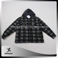 wholesale clothing fleece lined customized fashion hoody outerwear winter jacket