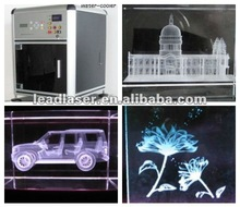 High quality photo glasswork 3D laser engraving machine with fasten speed