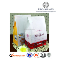 Custom logo small fried chicken fast food kraft paper bags for food