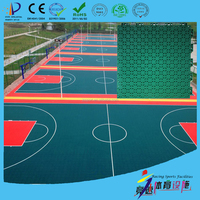 high impact and good rebound portable basketball flooring with gridded surface