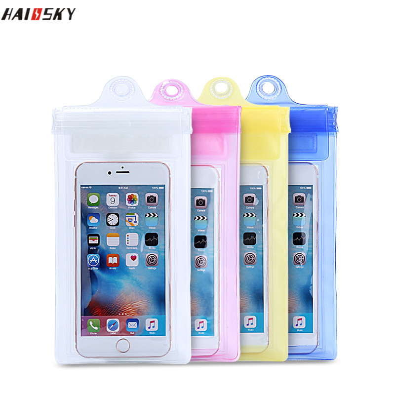 100% Waterproof Bag Case Cover For Samsung galaxy Note 2 3 4 S3 S4 s6 PVC Underwater Case For iphone 6