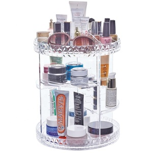 Top 360 Degree Vanity Divisoria Spinning Rotating Clear Plastic Acrylic Cosmetic Make Up Makeup Organizer For