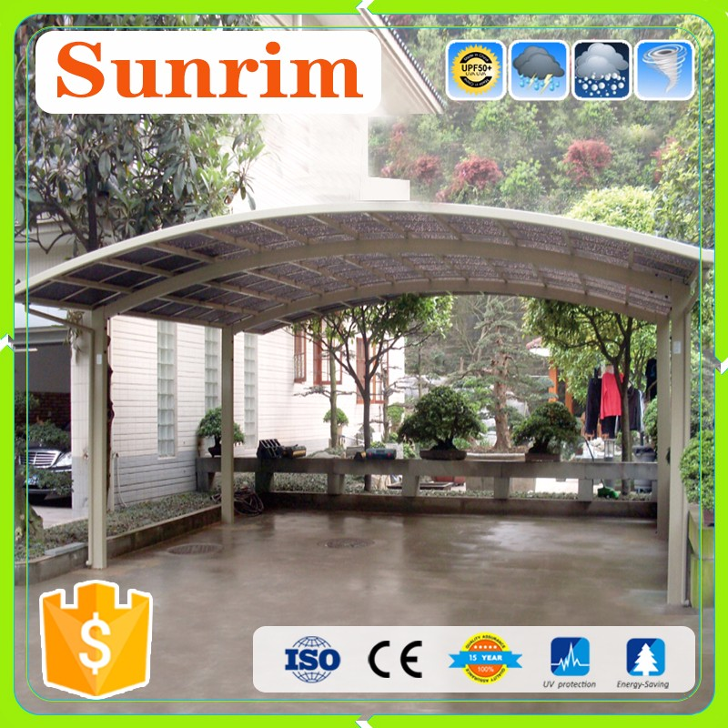 Custom color outdoor metal aluminum carport gutters car canopy