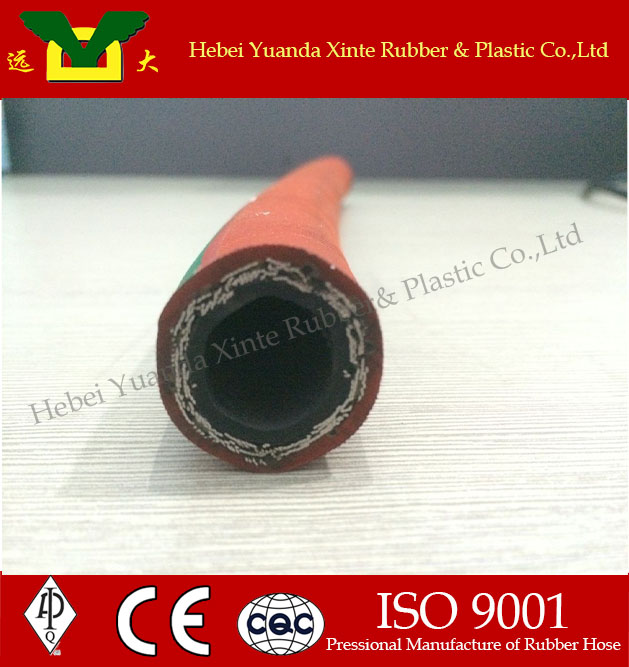 Oxygen/air/steam hose flexible delivery rubber hose