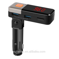 2016 new arrival Wireless Bluetooth Car FM Transmitter MP3 Player Dual USB Car Charger BC11