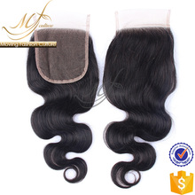 Whosale body wave style shedding free swiss lace closure
