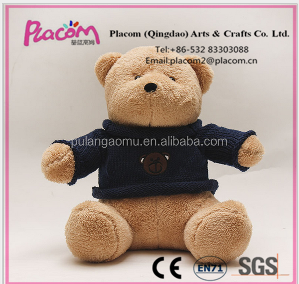 Hot design top-selling and lovely cheap gifts and kids toys customize plush toy bear with clothes