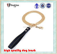 Highest quality luxury pet products copper made golden dog chain