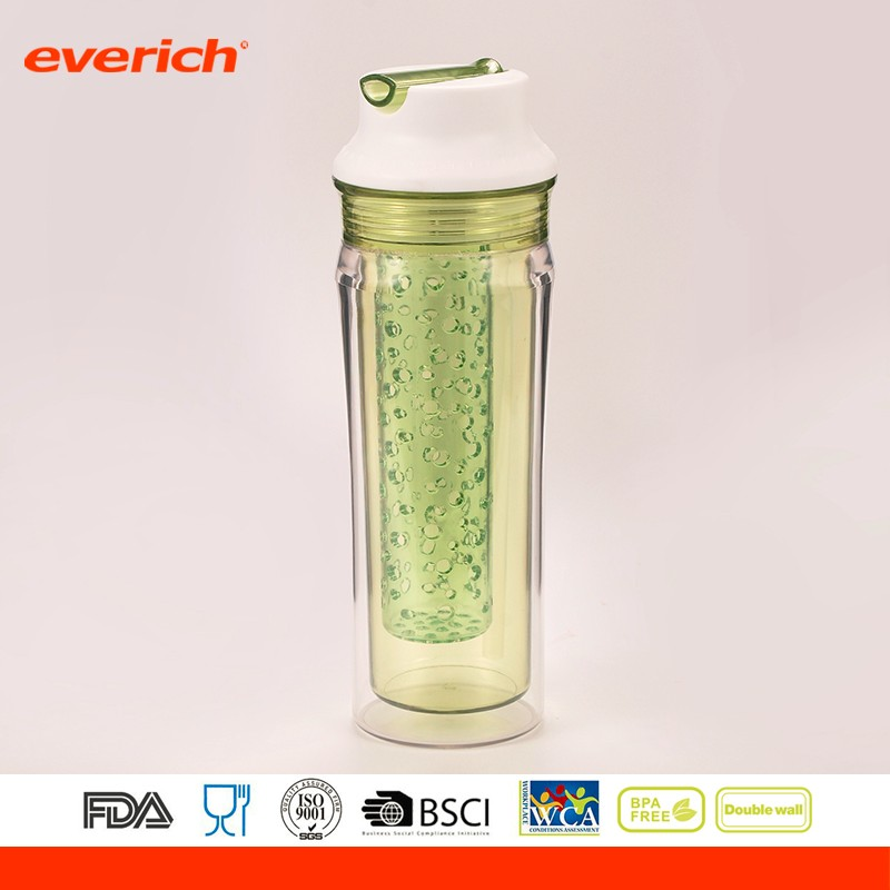 Tritan Sporting Fruit Juice Bottle Travel Infuser Ice Tea Bike Water Bottle