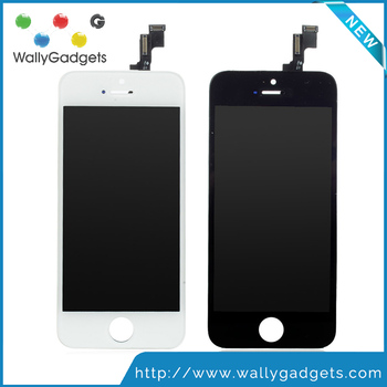 Wholesale Quality A++++ W/B For iPhone 5S LCD Digitizer Assembly with Touch Replacement Great Packaging