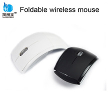BSCI factory 2.4g optical wireless arc folding mouse driver with mute key function
