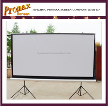 High Definition Floor Pull up Projector Screen Portable Tripod Projection Screen