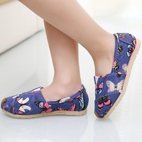 D70902H 2015 new spring butterflies cute shoes for girls