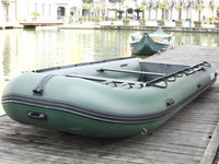 CE certification 7m large inflatable salvage pontoon boats with outboard motor