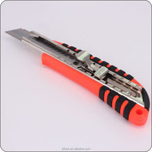 Hand tool Plastic PP + TPR sharply tactical steel utility knife pocket knife tool for office cutter