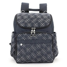 Multifunction blue diaper bags travel backpack mummy baby bag with baby stroller straps