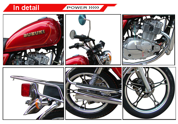 SUZUKI125cc High quality Gas Powered Cruiser bike ( GN125H ) for cheap sale Hot