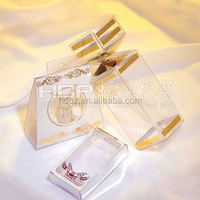 customized clear plastic soap packaging