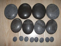 Black/White Natural River stone Pebble stone for massage stone and body helth